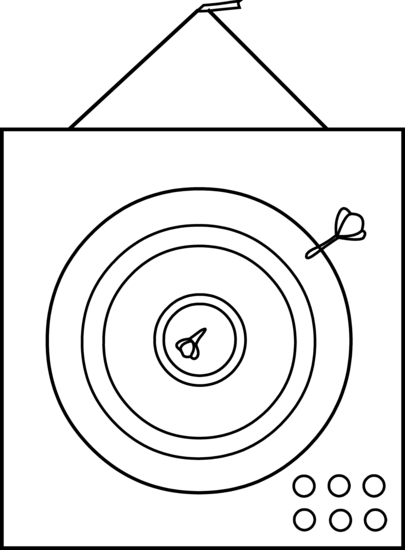 Dart Board Coloring Page