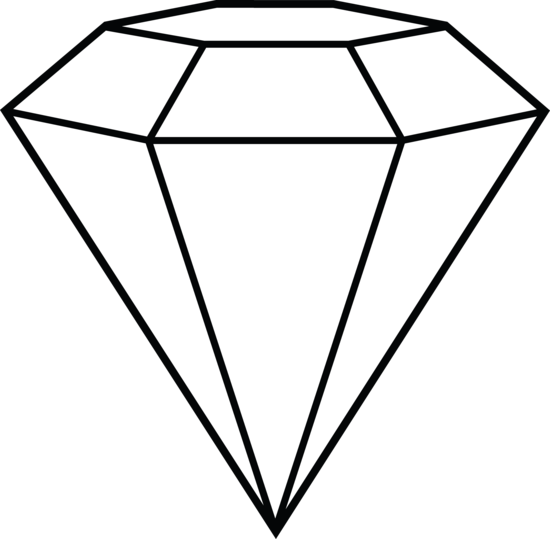 Diamond Line Art - Free Clip Art
