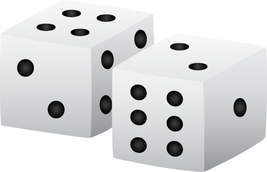 Black and White Playing Dice
