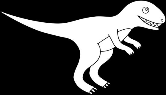 Colorable T-Rex Outline