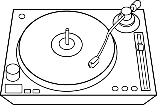 Decks dj Art dj Turntable Line Art