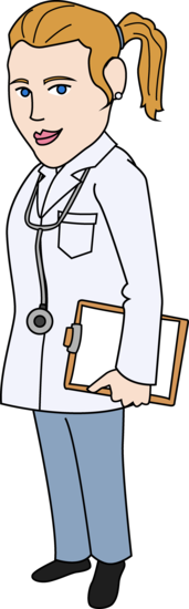 Clip Art of a Female Doctor