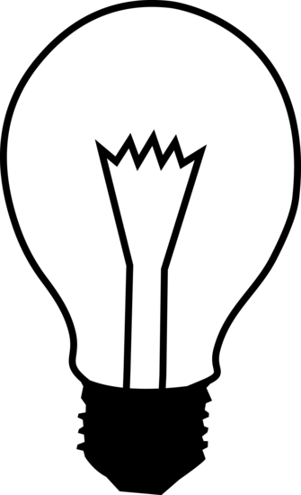 Black and White Lightbulb Logo