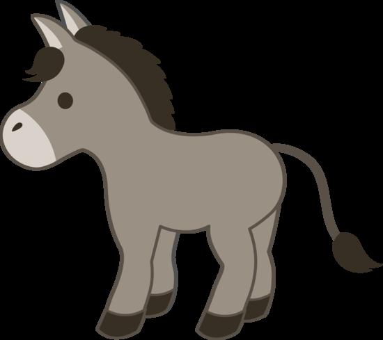 Cute Gray Donkey