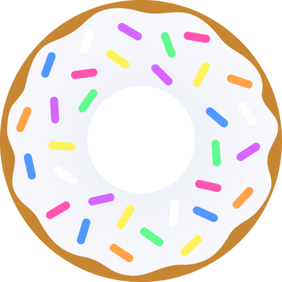 Donut With Sprinkles Clipart Vanilla donut with sprinkles - free clip ...