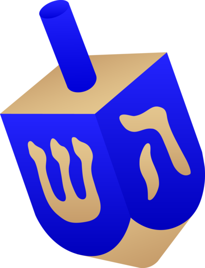 Blue Dreidel Spinning Top