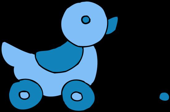 Cute Rolling Blue Ducky Toy