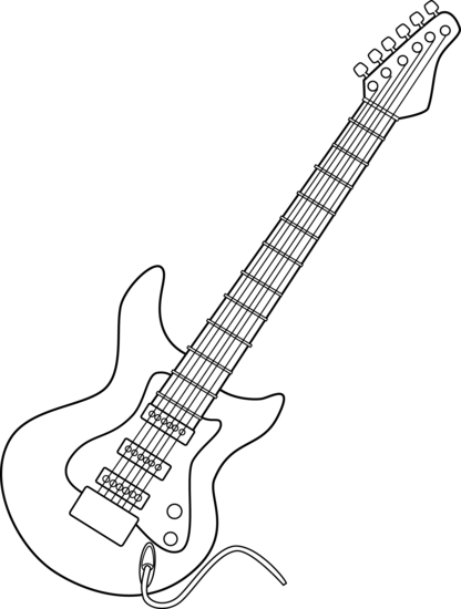 Line Drawing Guitar : The gallery for gt electric guitar drawing outline