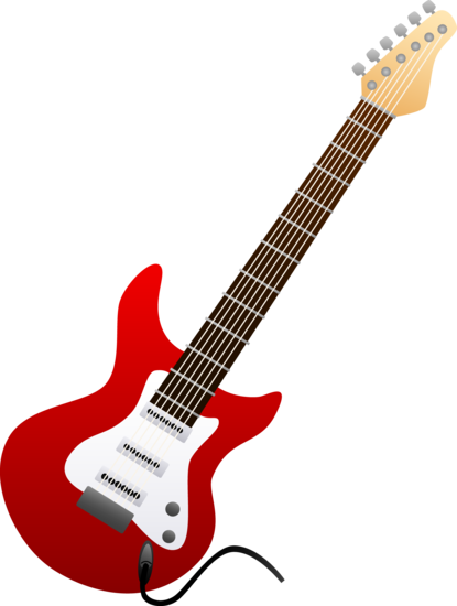 Red Electric Guitar Design