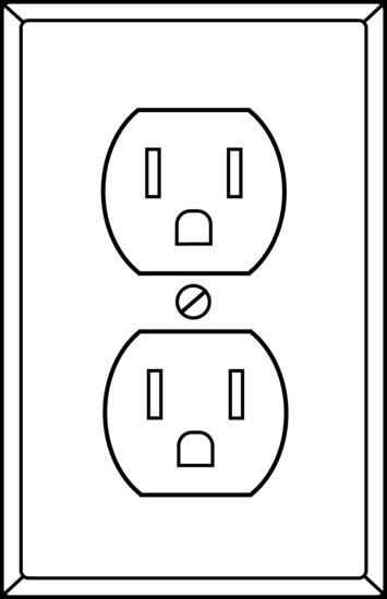 Electrical Socket Line Art Free Clip Art