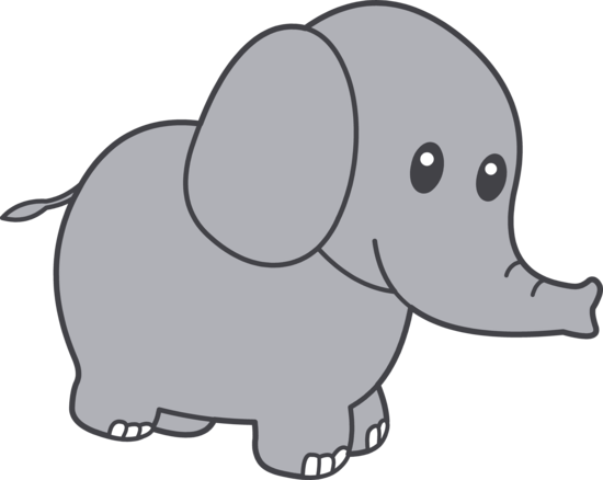 Cute Little Grey Elephant