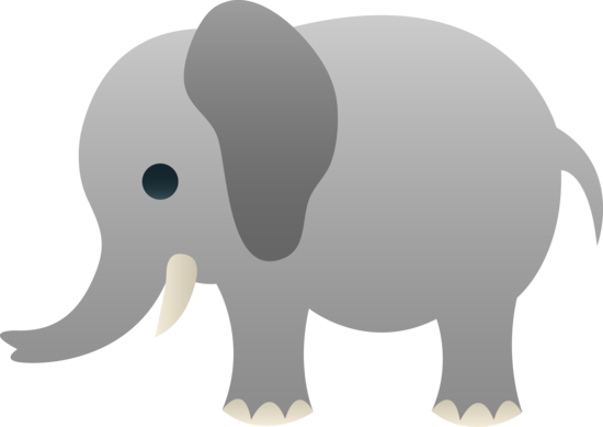 Cute Gray Elephant Clip Art