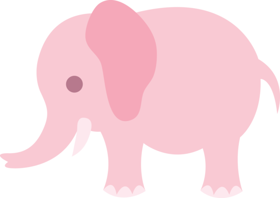 Cute Pink Elephant Clip Art