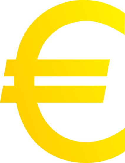 Golden Euro Currency Symbol