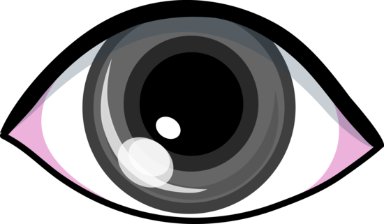 Grey Eye Clip Art Design