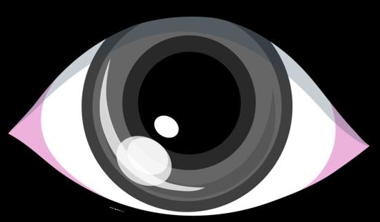 Grey Eye Clip Art Design