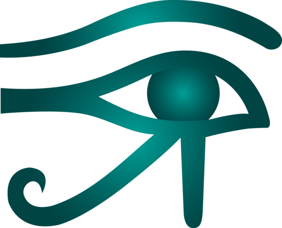 Blue Eye of Horus Symbol