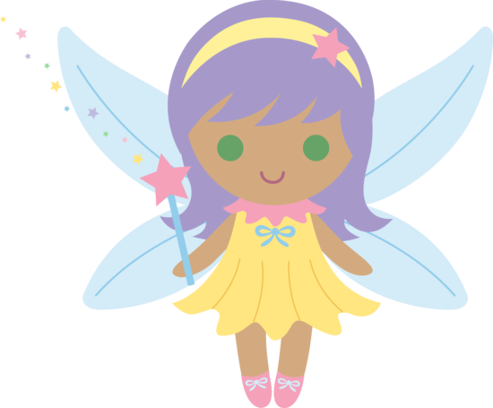 Cute Fairy With Purple Hair