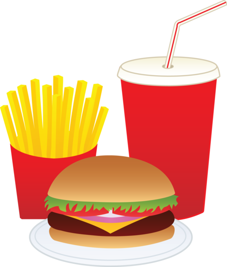 fries clip drink hamburger food fast meal sweetclipart