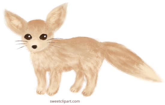 Free Fennec Fox Clipart Painting