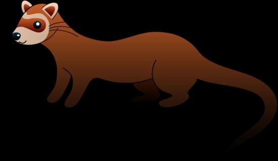 Cute Brown Ferret Clip Art