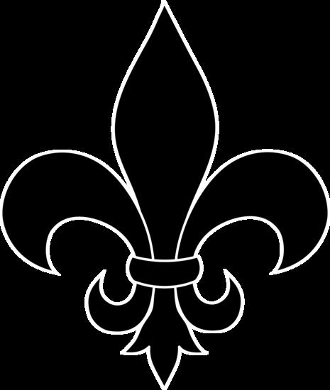 Black Fleur De Lis Logo Design