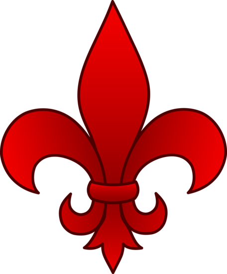 Red Fleur De Lis Design