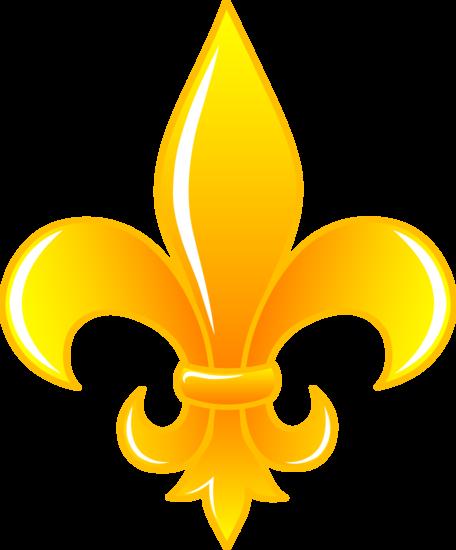 Fancy Gold Fleur De Lis Logo