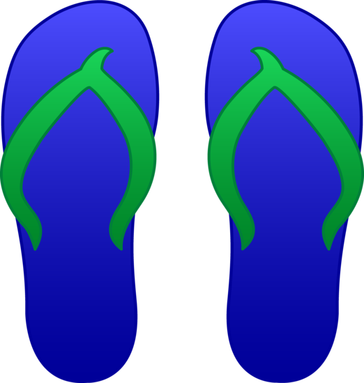 Blue Flip Flop Sandals
