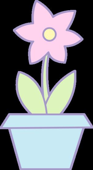 Cute Pink Flower in a Pot
