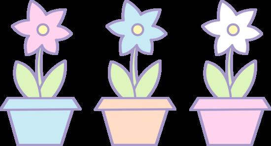 Three Cute Flower Pots