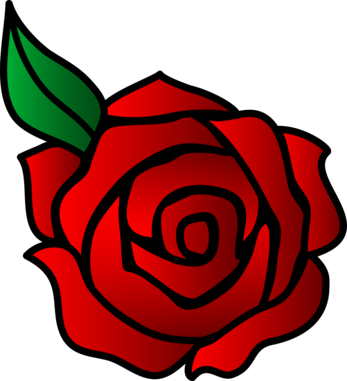 Simple Red Rose Flower