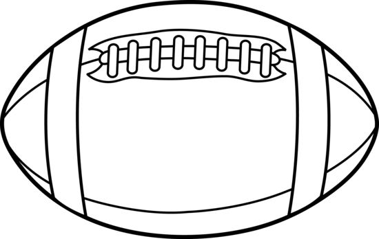 Football or Rugby Line Art