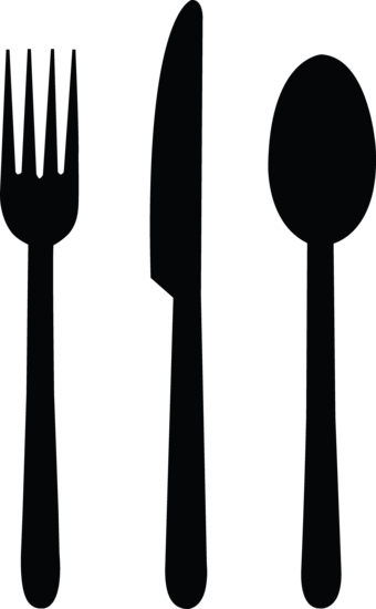 Black Fork Knife and Spoon