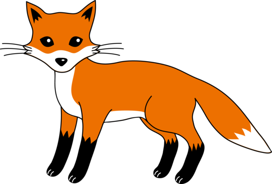 Clever Red Fox Clip Art