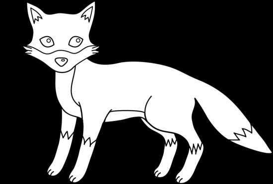 Cute Fox Outline