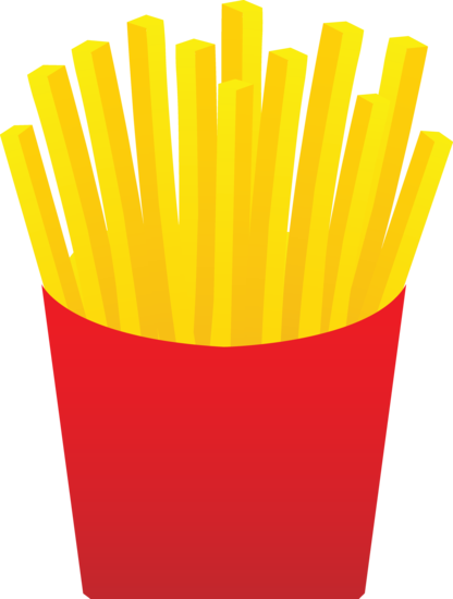 Fast Food French Fries - Free Clip Art