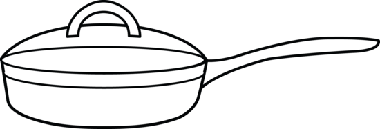 Frying Pan Coloring Page