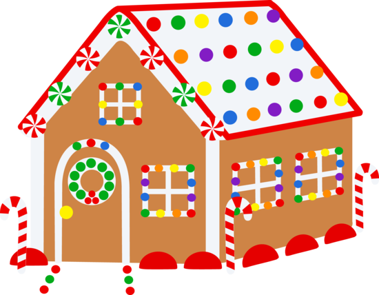 Christmas Gingerbread House - Free Clip Art