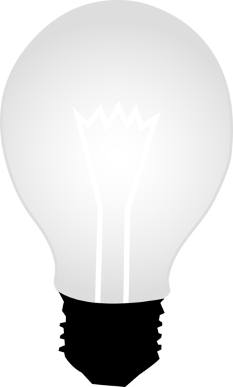 White Idea Light Bulb Design