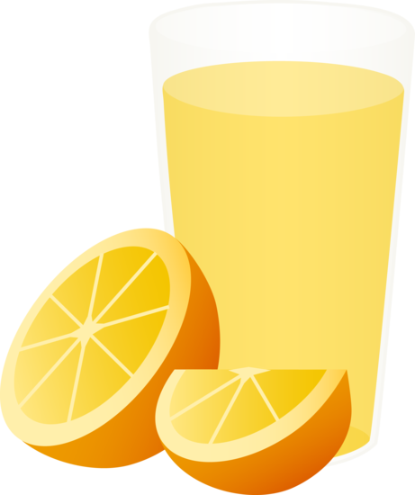 Orange Juice Glass Clipart Glass of Orange Juice With