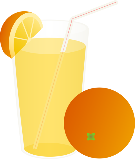 Orange Juice Glass Clipart Glass Orange Juice Straw Whole