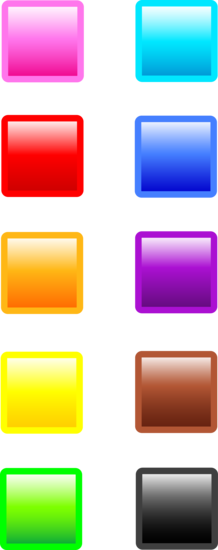 Ten Shiny Square Website Buttons