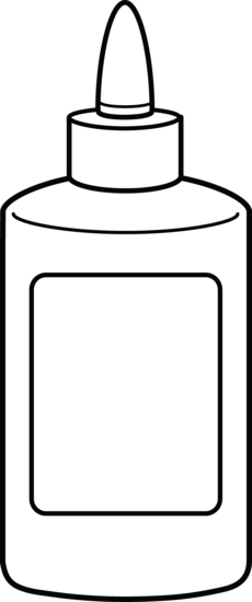 Glue Bottle Coloring Page
