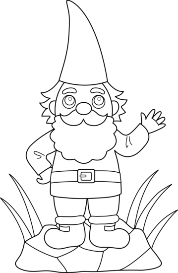 free clip art - Garden Gnome Coloring Pages