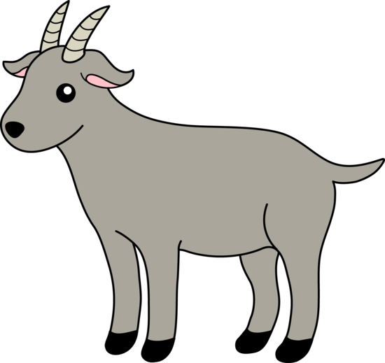 Little Gray Billy Goat - Free Clip Art