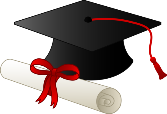 Graduation Cap With Diploma