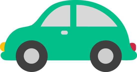 Cute Green Toy Car Clip Art