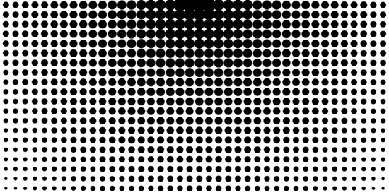 Circular Black and White Halftone Design