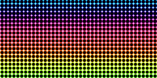 Rainbow Half Tone Background